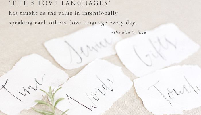 the 5 love languages - a giveaway