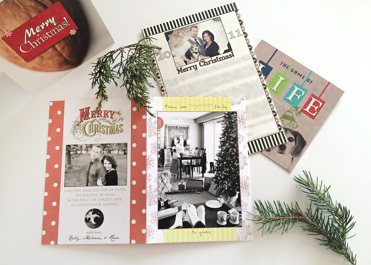 the elle in love, unique christmas card, holiday greeting cards