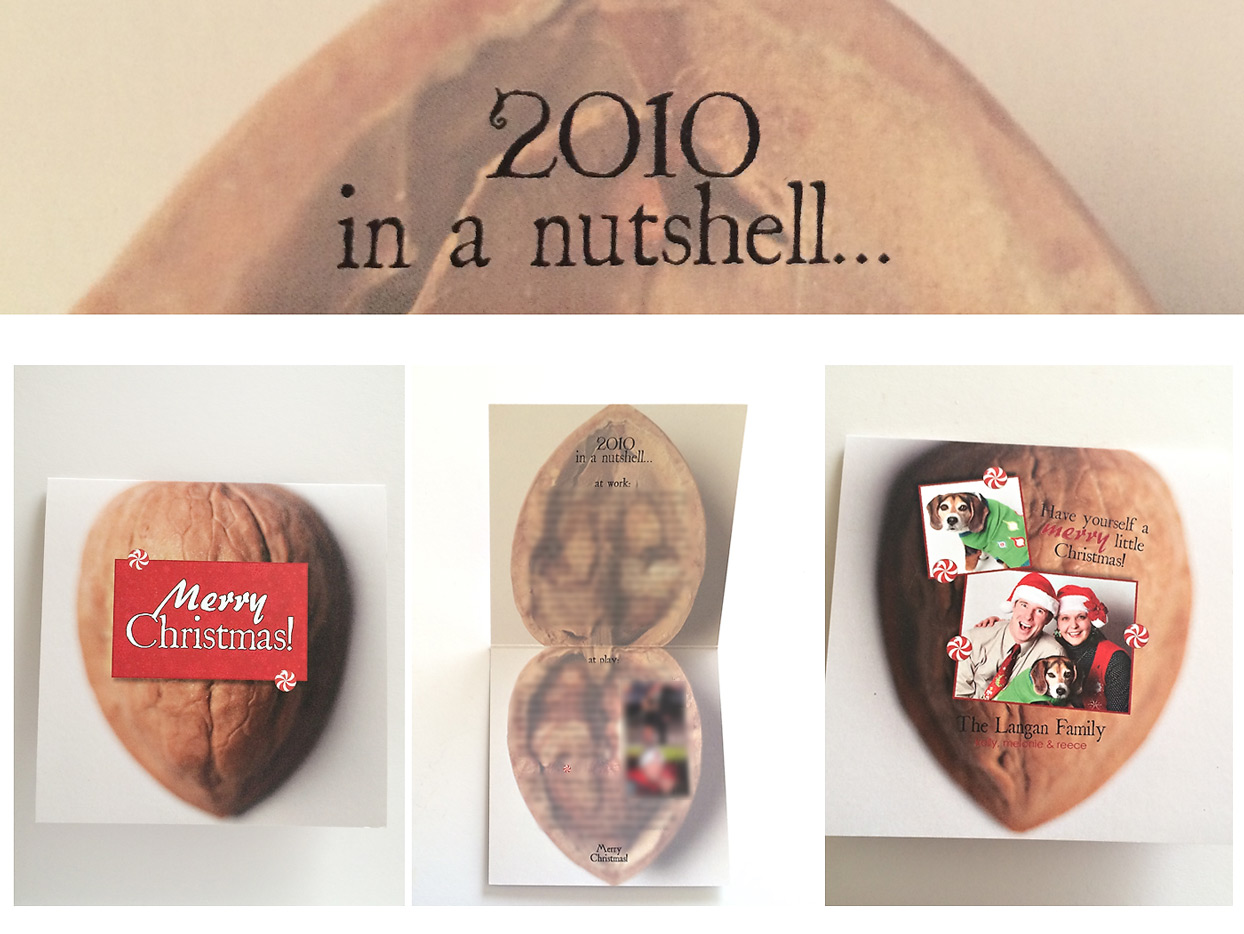 the elle in love, unique Christmas card ideas, original holiday greetings, our year in a nutshell