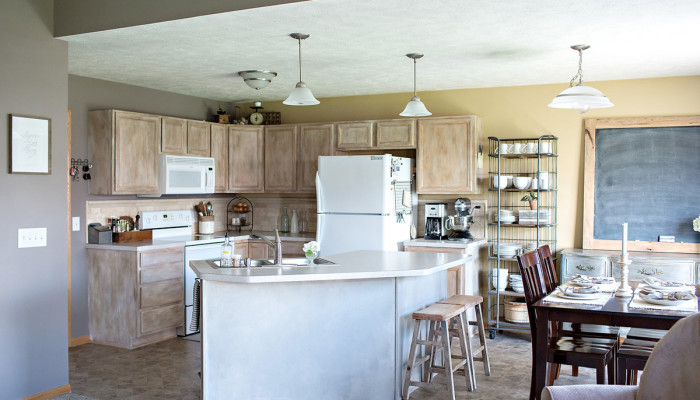 the kitchen and what we're really leaving behind