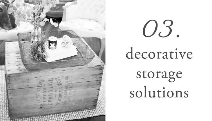 03. decorative storage solutions
